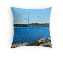 Standing by for Takeoff! Throw Pillow