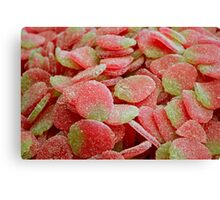 Strawberry Gummy Candy Canvas Print