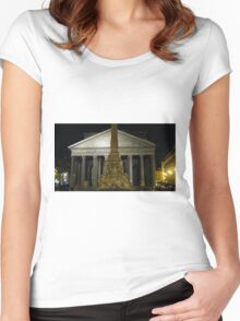 Pantheon at Night Women's Fitted Scoop T-Shirt