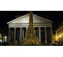 Pantheon at Night Photographic Print