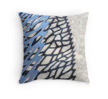 steel, shadow, stone Throw Pillow
