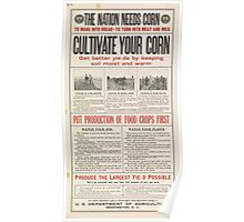 United States Department of Agriculture Poster 0196 Nation Needs Corn Cultivation Poster