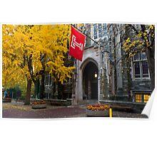Fall colors,Temple university, Philadelphia Poster