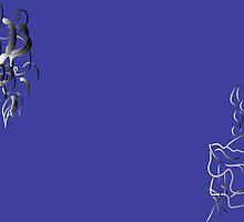 Girl and jellyfish,purple by ELENA SANABI