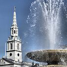 Fountain and St Martin's In The Field by KarenM