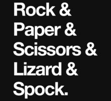 Rock & Paper & Scissors & Lizard & Spock by synaptyx