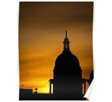 Sunset at the Capitol Poster
