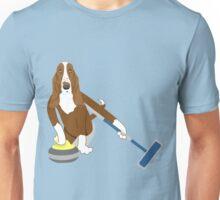 Basset Hound Curling Unisex T-Shirt