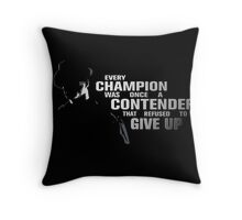 Rocky Quotes I Throw Pillow