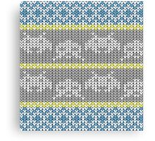Knitted Space Invaders Canvas Print