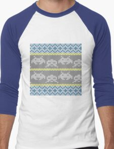 Knitted Space Invaders Men's Baseball ¾ T-Shirt