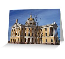 Romanesque - Architectural design of Marshall, Texas courthouse Greeting Card