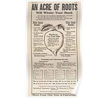 United States Department of Agriculture Poster 0279 An Acre of Roots Will Winter Your Stock More Food This Year is Patriotism Poster