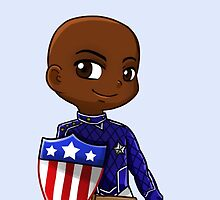 YA Chibi Patriot (Eli Bradley) by artsy-alice