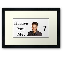 Haaave you met Ted? Framed Print