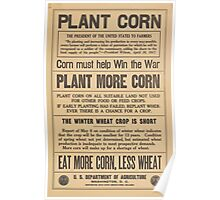 United States Department of Agriculture Poster 0195 Plant Corn Win War More Corn Less Wheat Poster