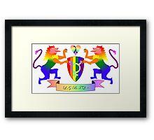 LGBTQ+ Crest Framed Print