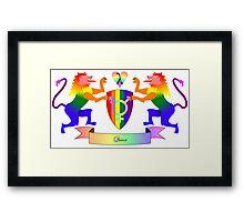 Queer Crest Framed Print