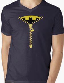Batmen Zip Mens V-Neck T-Shirt