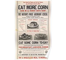 United States Department of Agriculture Poster 0112 Eat More Corn Abundant Cereal Today Poster