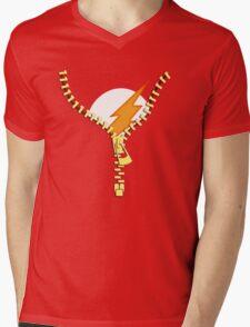 Flash Zip Mens V-Neck T-Shirt