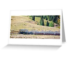 A train across the valley Greeting Card