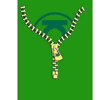 The Green Lantern zip Photographic Print
