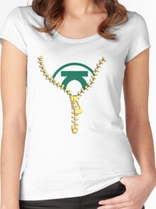 The Green Lantern zip Women's Fitted Scoop T-Shirt