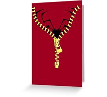 The Spidermen zip  Greeting Card