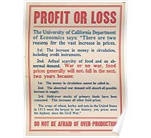 United States Department of Agriculture Poster 0186 Profit or Loss Poster