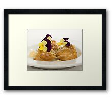 Grand Marnier & Vanilla Mascarpone filled Profiteroles Framed Print