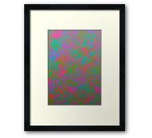 Splashes of Color Framed Print