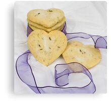 Lavender Shortbread Biscuits Canvas Print