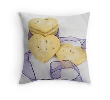 Lavender Shortbread Biscuits Throw Pillow
