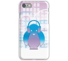PENGUIN WITH HEADPHONE iPhone Case/Skin