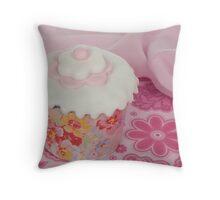 Springtime Cupcake Throw Pillow