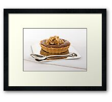 Chocolate Praline Tart Framed Print