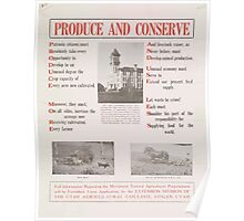 United States Department of Agriculture Poster 0276 Produce and Conserve Poster