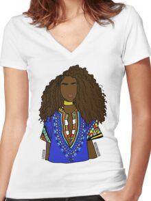 TIERA (ABA) Women's Fitted V-Neck T-Shirt
