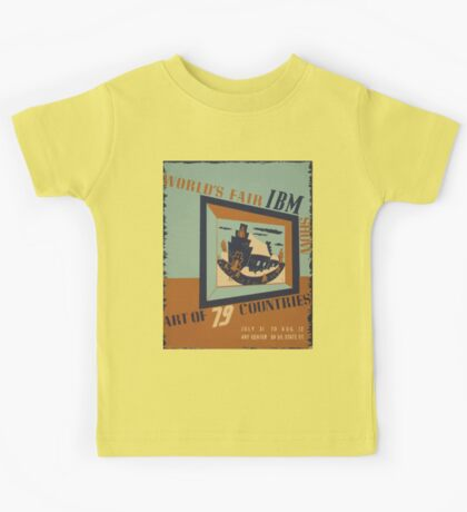 WPA United States Government Work Project Administration Poster 0745 World's Fair IBM Show Kids Tee