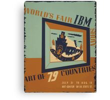 WPA United States Government Work Project Administration Poster 0745 World's Fair IBM Show Canvas Print