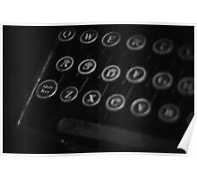 Old typewriter - keys Poster