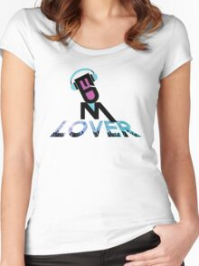DJ EDM Lover-lbp Women's Fitted Scoop T-Shirt