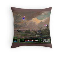 Game Painting Duck Hunt Throw Pillow