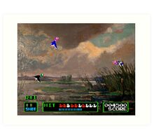 Game Painting Duck Hunt Art Print