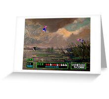 Game Painting Duck Hunt Greeting Card