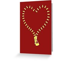 Zip Heart Greeting Card