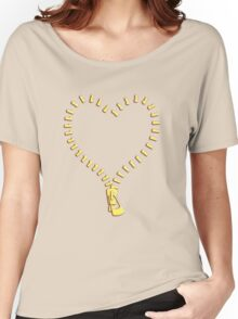 Zip Heart Women's Relaxed Fit T-Shirt