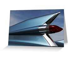 Blue '59 Fin Greeting Card