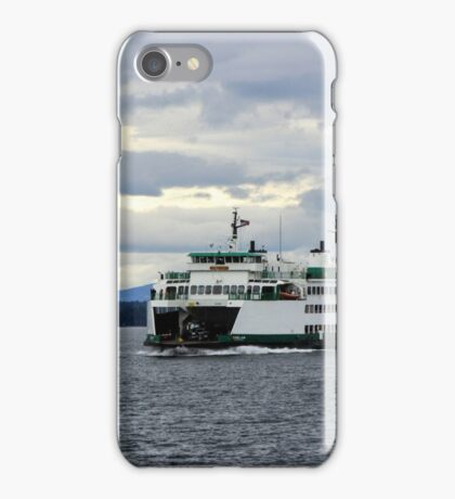 Ferry on the Puget Sound iPhone Case/Skin
